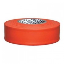 "Presco Products TFO-188 Orange 1-3/16"" x 300 ft. Taffeta Surveyor Flagging Tape"