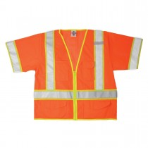 2X-Large Fluorescent Orange Class 3 Safety Vest
