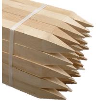 """(25/Bundle) 2"""" x 2"""" x 8"""" Wooden Hub Stakes"""