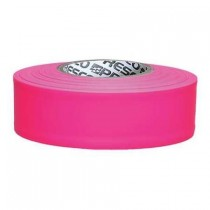 "Presco Products TFPG-188 Glo Pink 1-3/16"" x 150 ft. Taffeta Surveyor Flagging Tape"