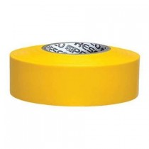 "Presco Products TFY-188 Yellow 1-3/16"" x 300 ft. Taffeta Surveyor Flagging Tape"