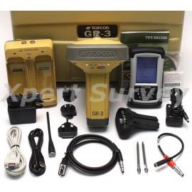 Topcon GR-3 GPS L1 L2 RTK UHF Base GNSS Receiver w/ TDS Recon 400 w/ Survey Pro