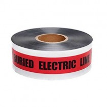 Red Foil Tape Stock Photo