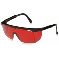 Red Laser Safety Glasses Stock Photo