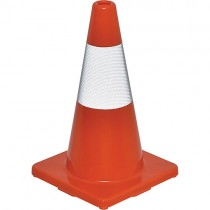 "18"" Orange Reflective Traffic Cone"