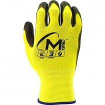 0112 Hi-Vis Safety Gloves Stock Photo