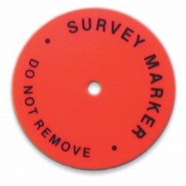 24Hubdisc Survey Marker Stock Photo