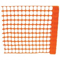 Orange Safety Fence Stock Photo