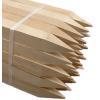 Wooden hub stakes stock photo